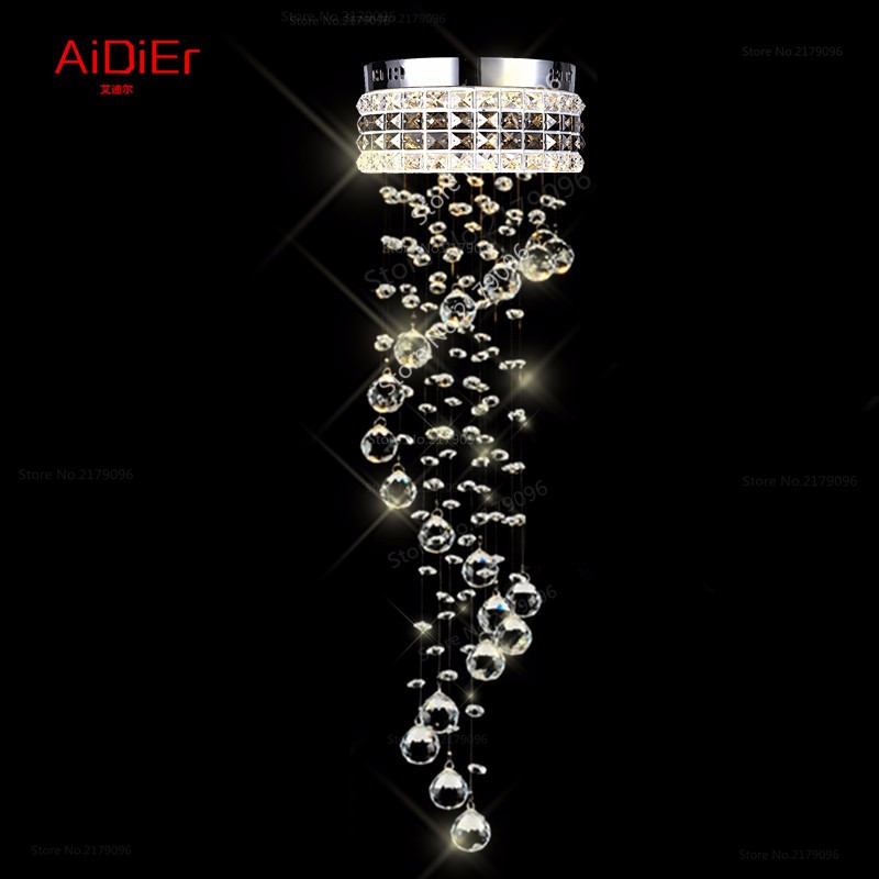 modern chandelier aisle small Spiral staircase lamp corridor hallway LED Crystal Light balcony lighting(China (Mainland))