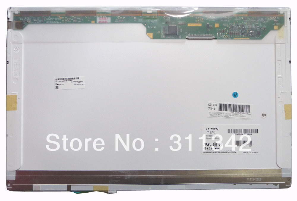 "17.1"" Laptop LCD Screen panel LP171WP4 (TL)(B5) for TOSHIBA SATELLITE PRO L350(China (Mainland))"