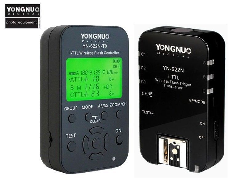 Здесь можно купить  Yongnuo 1 x YN-622N-TX + 1 x RX YN-622N i-TTL LCD Wireless Flash Trigger Set for Nikon D800 D800E D800S D600 D610 D7200 D7100  Бытовая электроника