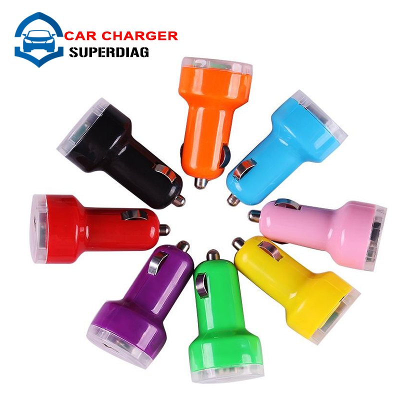 Car Styling Auto Universal Dual USB Car Charger For iPad for iPhone for Mobile Phone 5V 2.1A Short Circuit Protection Free Ship(China (Mainland))