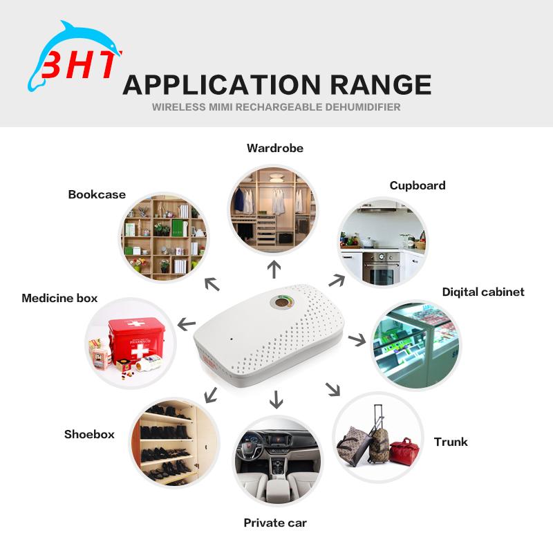 Mini portabl electric air dehumidifier for home air dryer machine moisture absorb water intelligent deshumidifier wardrobe(China (Mainland))