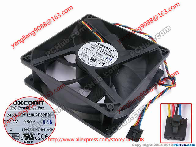 compare prices on foxconn dc fan online shopping buy low price shipping for foxconn pv123812dspf01 g dc 12v 0 90a 4 wire 5