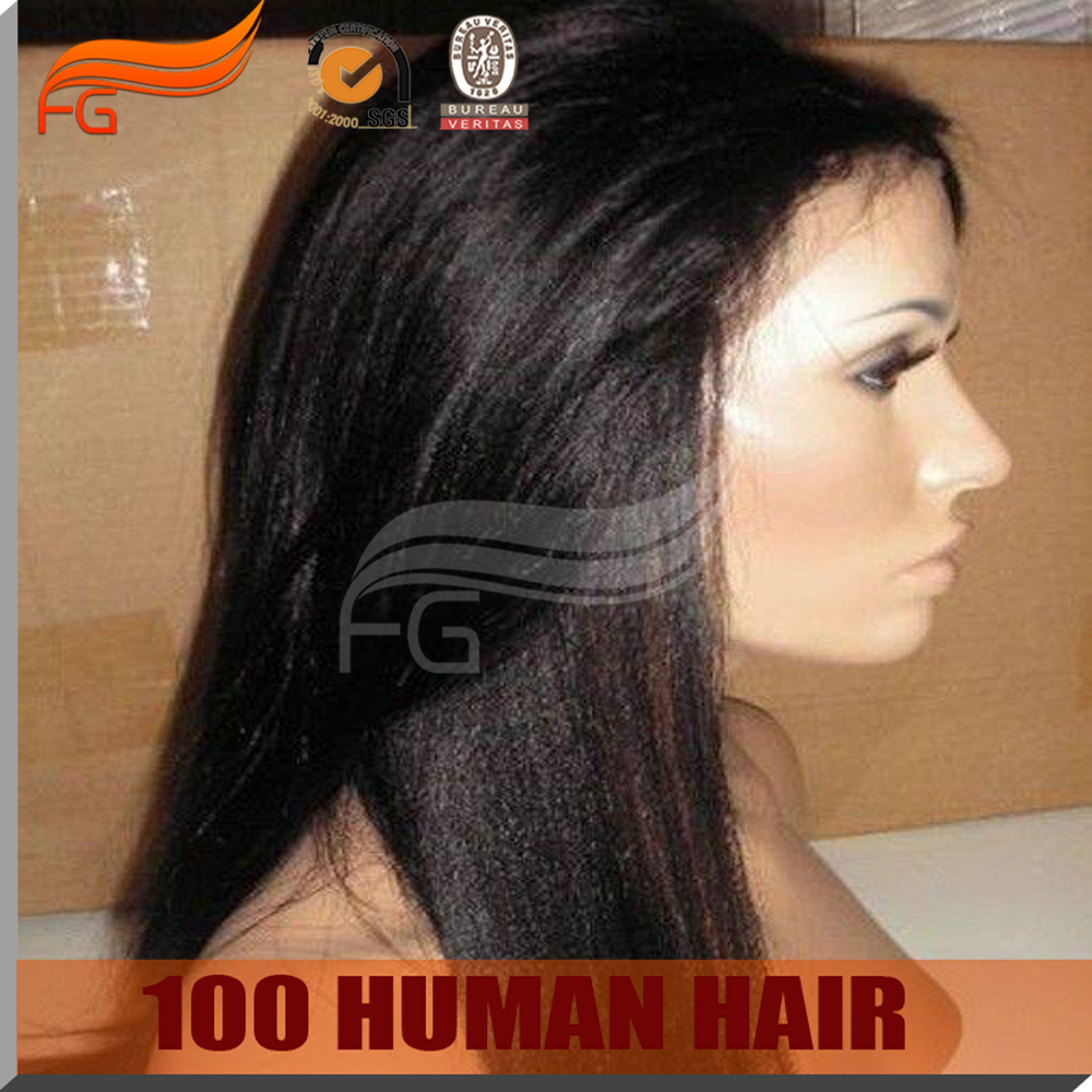 New Arrival Virgin Brazilian Glueless 150 Density Human Hair Full Lace Wigs 150 Density Natural Looking Yaki Straight Lace Wig<br><br>Aliexpress