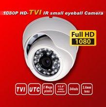 Free shipping HD TVI 1080P1/2.8''Sony Exmor Sensor security camera TVI camera 24IR 3Mega 3.6MM UTC HD-TVI dome cctv camera white(China (Mainland))