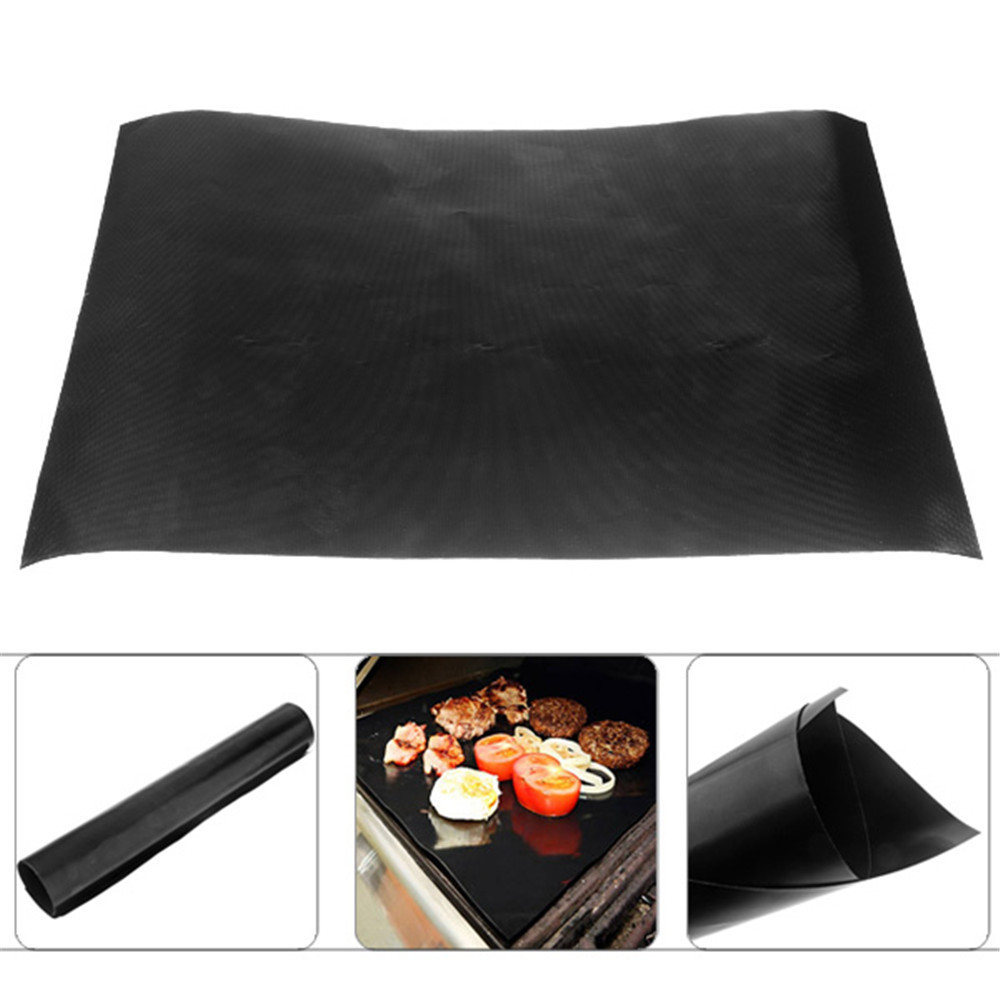 Teflon Barbecue Grill Mat for Microwave Oven Outdoor BBQ Accessories(China (Mainland))