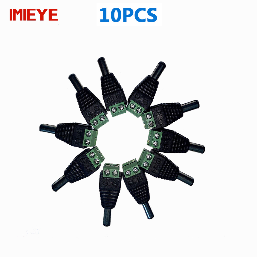 IMIEYE 10pcs CCTV Cameras 2.1mm x 5.5mm Female Male DC Power plug dapter Connector 12V security free welding DC male plugs(China (Mainland))