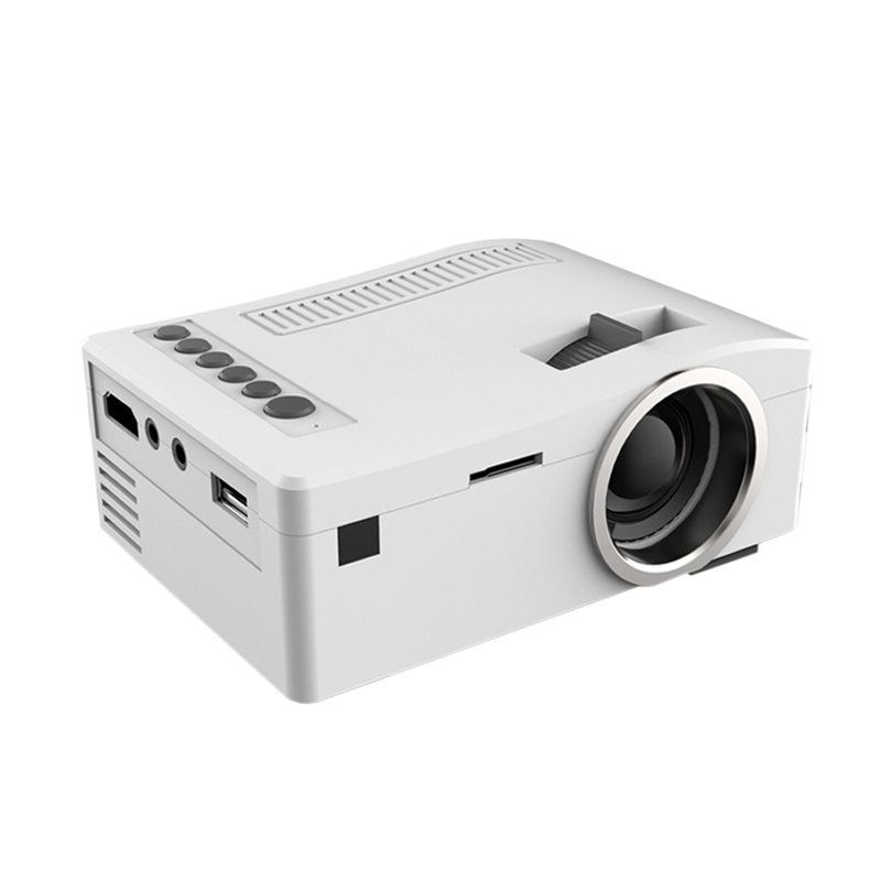 Unic uc18 mini portable led projector 320 180 support 1920 for Small video projectors reviews
