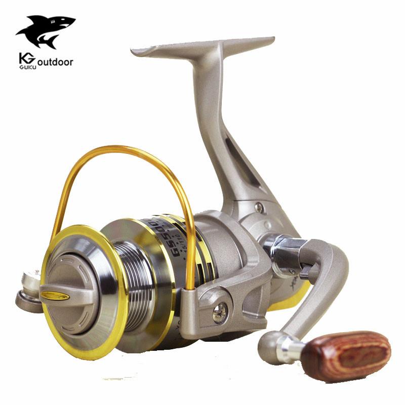 Hot sale GS1000-7000 Fly Fishing Reels 8BB wood hand via fly fishing for shimano feeder Fishing Reels(China (Mainland))