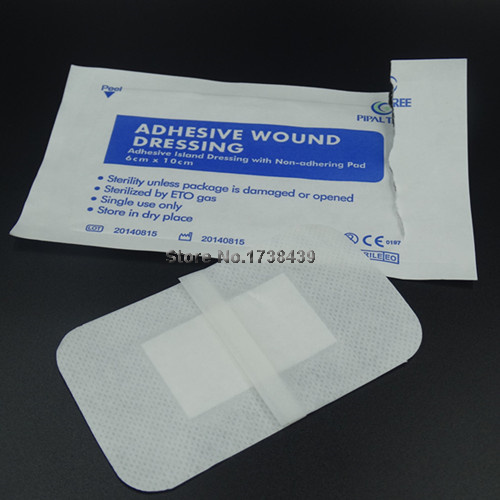 Waterproof Wound dressings paste Breathable Non-woven wound dressing Sticky pad Medical Care paste Adhesive wound gauze piece(China (Mainland))