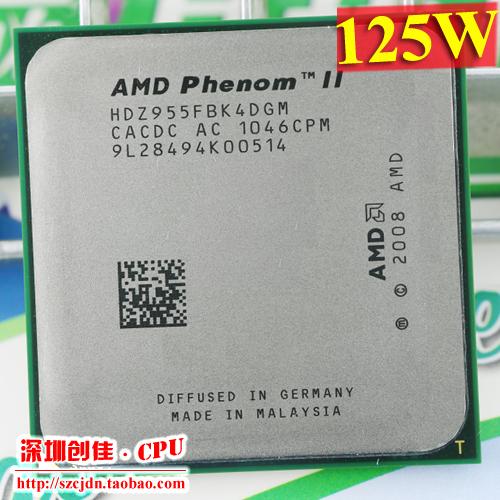 Free Shipping AMD Phenom II X4 955 Desktop CPU Processor 3.2GHz 6MB Socket AM2+/AM3/125w 938Pin Quad-CORE scrattered pieces(China (Mainland))