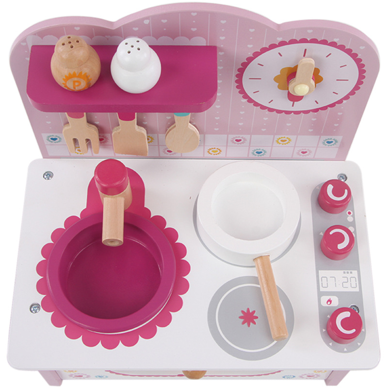 Classic Toys Pretend Play Kitchen Toys Mother Garden Children wooden health Electric kitchen cooking play toys SXR(China (Mainland))