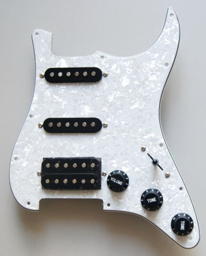 LOADED PREWIRED White Pearl PICKGUARD FOR STRAT SSH Guitar Parts(China (Mainland))