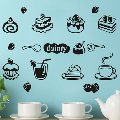 Wall stickers honey of the restaurant dining table wall stickers pastry kitchen cabinet decoration(China (Mainland))