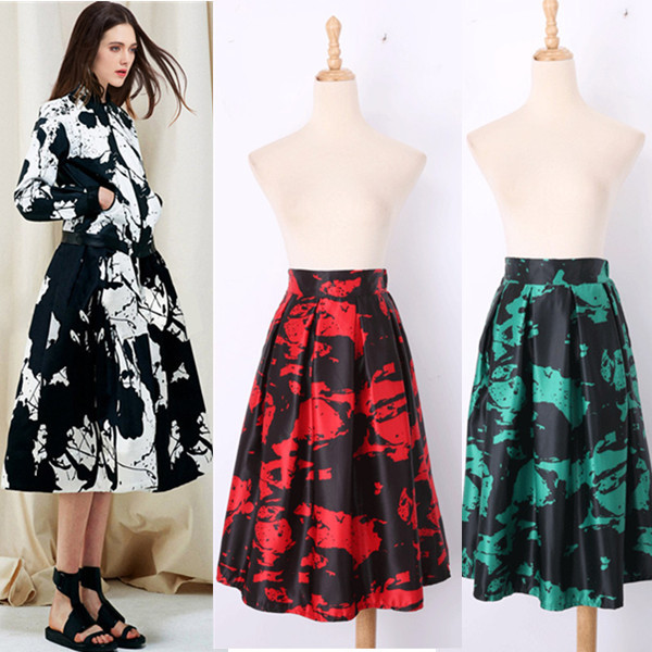 High Waist Fashion Wild Printing Tutu Skirt Spring Summer 2015 European American New Women's Clothing SP144 - Zhonghuan Women No.5 Store store