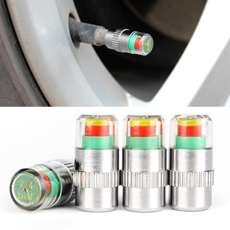 4PCS Car Auto Tire Pressure Monitor Diagnostic Tools Kit Valve Stem Caps Sensor Indicator Eye Alert Promotion