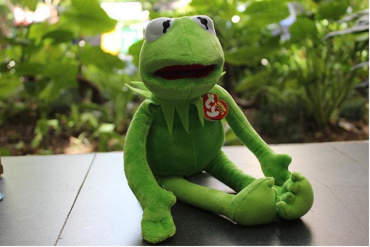 10pcs/lot 40cm muppets frog kermit plush toy doll 2015 hot Kermit plush toys animal plush Kermit frog plush doll free shipping(China (Mainland))