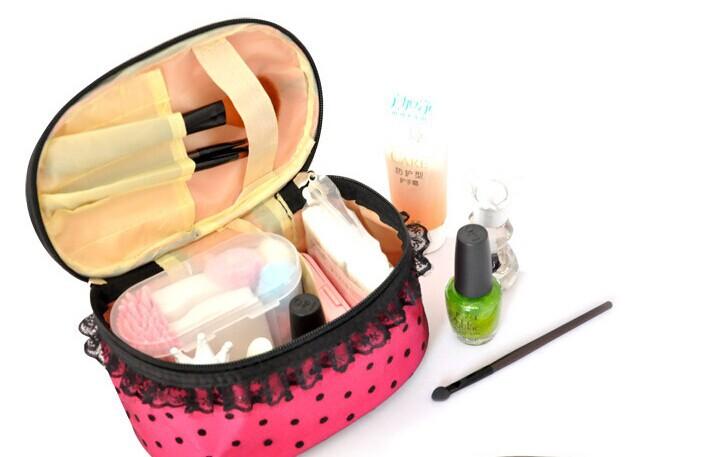 2014 New cosmetic storage bag women's travel handbag 3 Colors Free Shipping(China (Mainland))