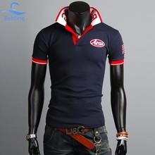Bebling 2015 penjualan olahraga laki laki katun polo shirt padat Kualitas atas manusia pakaian Lengan pendek