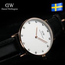 top brand Daniel Wellington women DW watch rhinestone diamond genuine leather lady wristwatch relogio relojes feminino