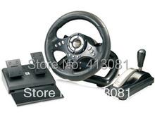 Lim shida PXN-V18II Litestar Computer usb vibration steering wheel independent handbrake steering wheel(China (Mainland))