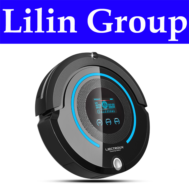 LIECTROUX A338 Multifunction Robot Vacuum Cleaner (Sweep,Vacuum,Mop,Sterilize),LCD,Schedule,Virtual Blocker,Auto Charge,Remote(China (Mainland))