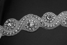 New Design European CZ Rhinestone Crystal Beads Bridal Headband Wedding Hair Accessories Hair Jewelry TS002
