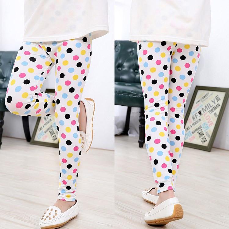 2016 Summer Baby Kids Childrens printing Flower Toddler Classic Leggings girls pants Girls legging 2-14Ybaby girl leggings
