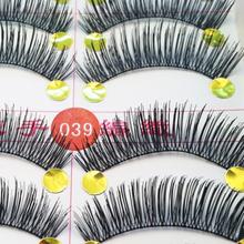 Free Shipping 100% Handmade 10Pair Thick Long False Eyelashes Mink Eyelash Eye Lashes Voluminous Makeup(China (Mainland))