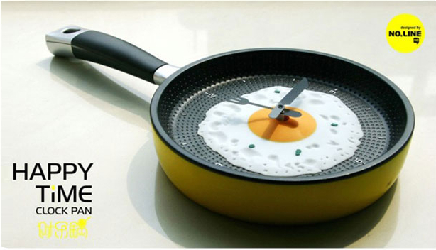 Novelty Households home decoration Creative Omelette Fry Pan Kitchen Fried Egg Design Wall Clock Decor wz02(China (Mainland))