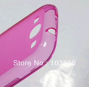1000pcs Soft TPU Gel  matte Clear sline Back Cover Cases for Samsung I9300 Galaxy S4 S (mix color)