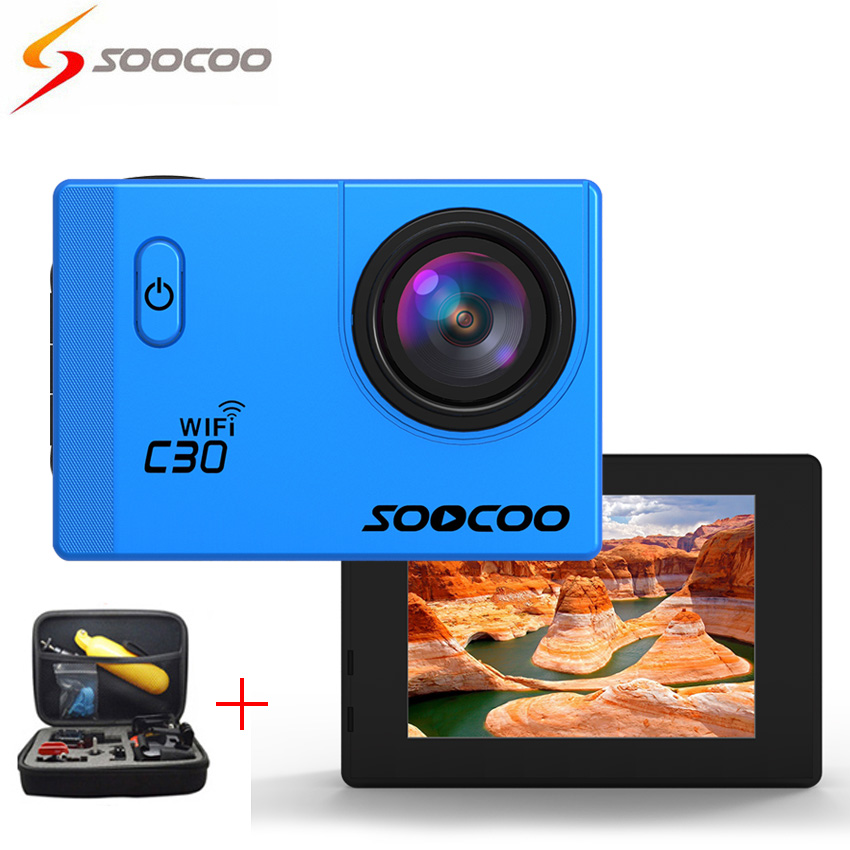 """[+Bag] SOOCOO C30 4K Ultra HD Wifi Action Camera 70-170 Degrees 2""""LCD Video Record Sport Cameras Deportiva Mini Camcorders Cam(China (Mainland))"""