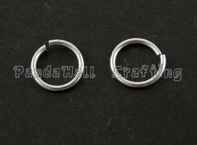 Jump Rings, Close but Unsoldered, Aluminum, Silver Color, about 8mm in diameter, 1mm thick; about 178pcs/10g(China (Mainland))