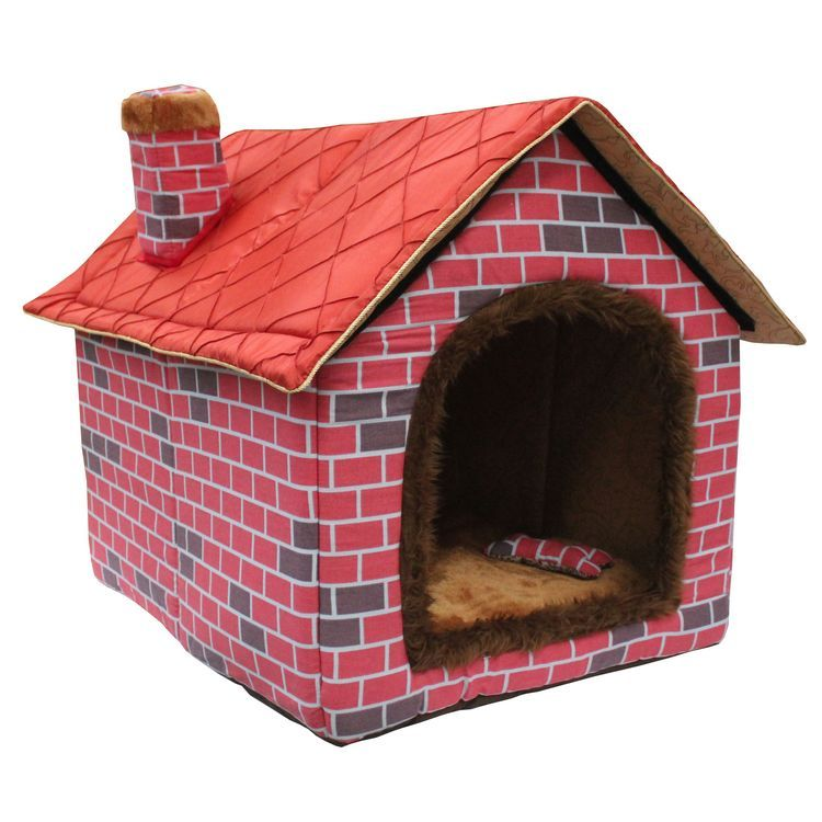 Pet House bed 2014 Autumn and Winter Top selling fold large dog house big red brick pet kennel cat litter warm nest(China (Mainland))