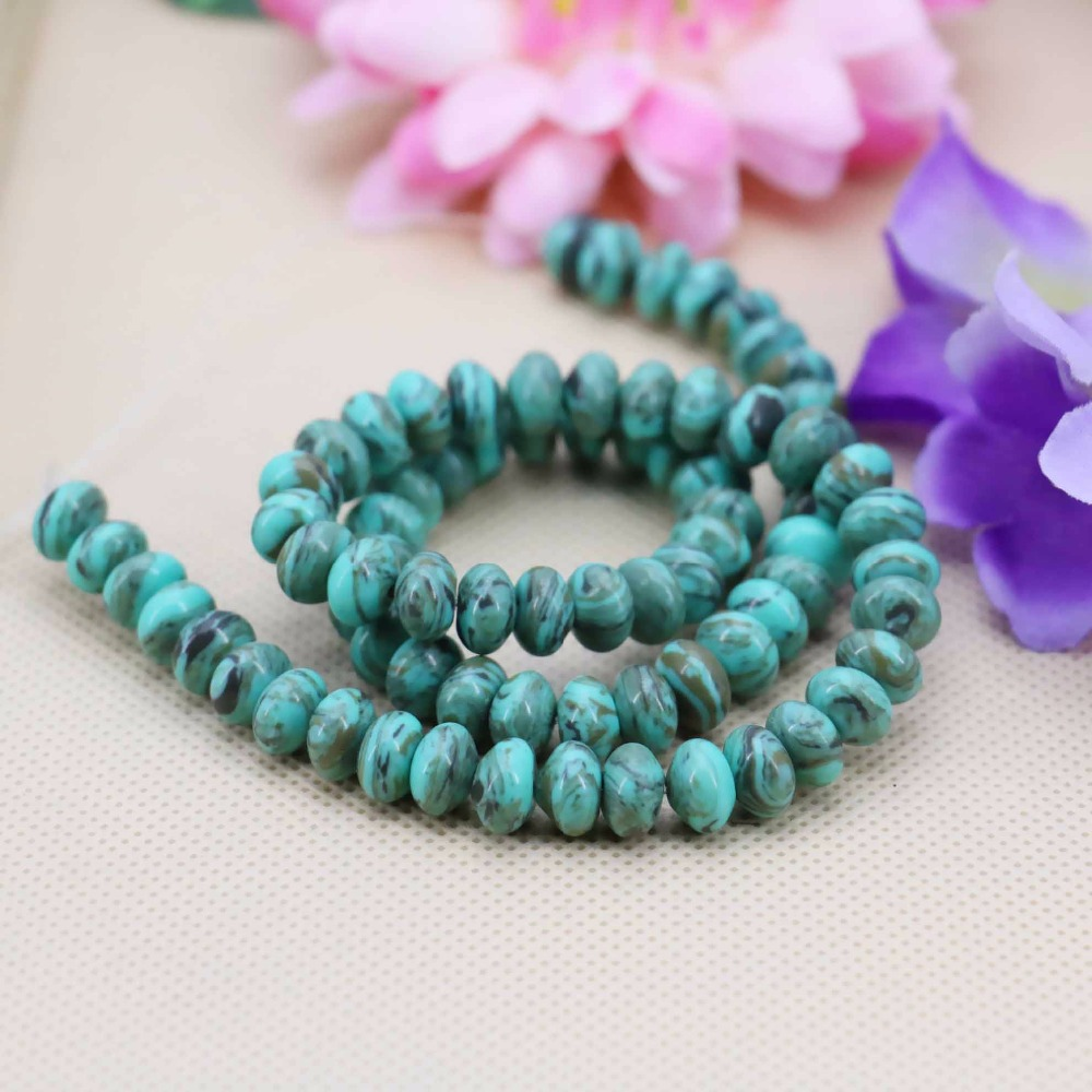 5x8mm Hot sale Blue Coffee Turquoise Abacus loose DIY beads Jasper Jewelry crafts making design 15inch Girls Gifts stones(China (Mainland))
