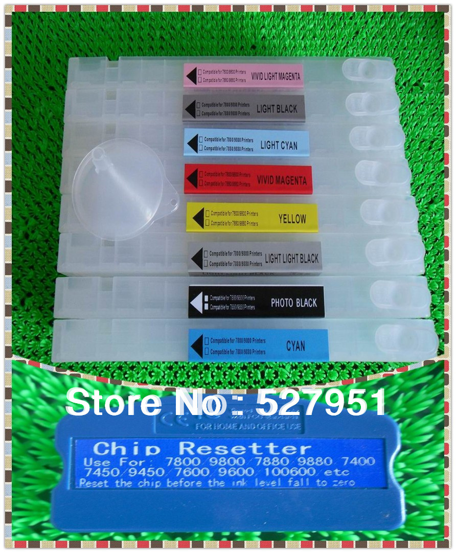 Hot Sale ink cartridge for epson stylus pro 7880 ink cartridge+ chip resetter(for free)(China (Mainland))