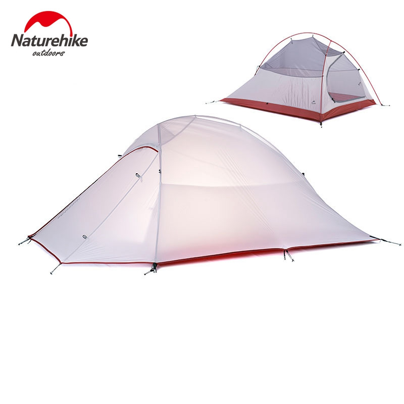 DHL free shipping brand NatureHike 2 Person Tent 20D Silicone Fabric ultralight tent Double-layer outdoor camping tents 3 colors(China (Mainland))