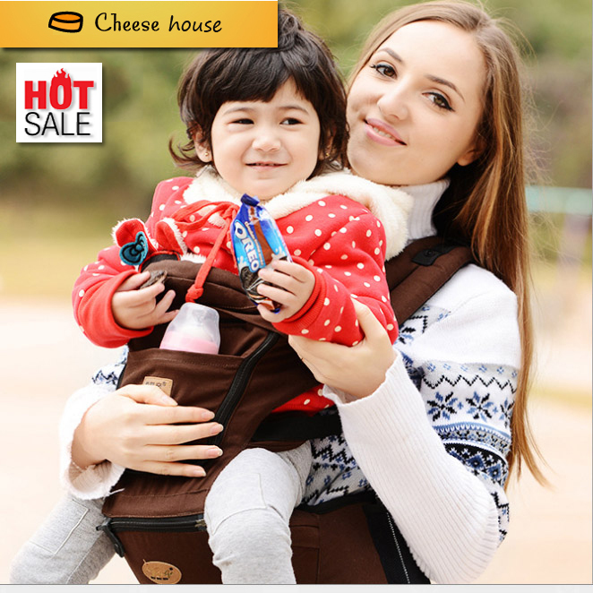 2015 Best Qulity America Organic cotton baby carrier infant Sling Toddler wrap Rider canvas baby carriage backpack suspenders(China (Mainland))