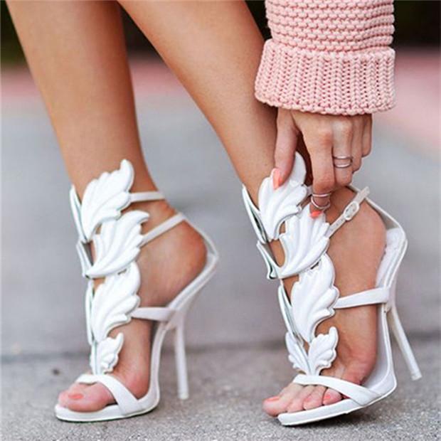 Жестокие летние пламени сандалии крыло открытым носком кат-аутов платформы высокие каблуки гладиаторские сандалии женщин ну вечеринку девушку Sandalias Mujer