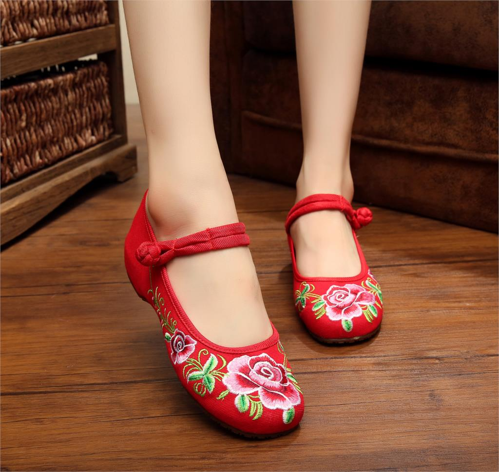 Big Size 41 New 2015 Women's Shoes Ladies Old Beijing Cloth Shoes Chinese Traditional Shoes Comfortable Soft Shoes zapatos mujer