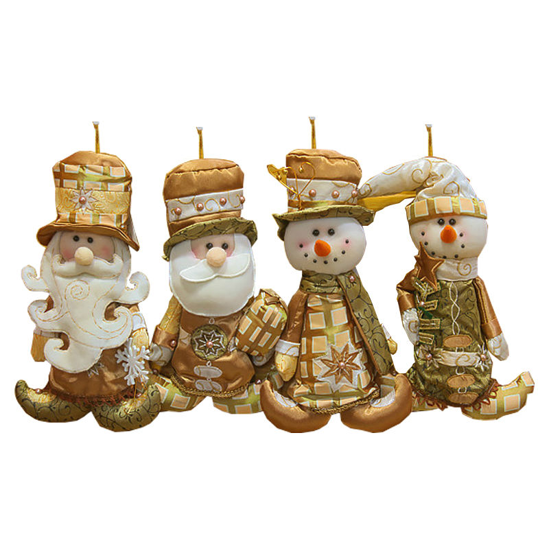 2016 New Year Santa Claus Snowman Christmas Decoration