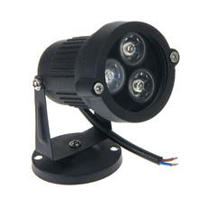 Waterproof Light Lamp IP67 3 * 1W LED Warm White / White Lawn  Spotlight Bulb 220V For Garden Park Outdoor Flood(China (Mainland))