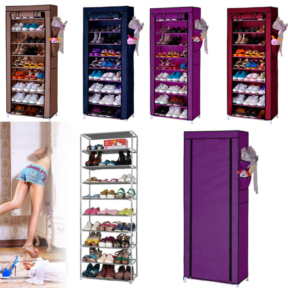 Homestyle Shoe Cabinet Shoes Racks Storage Large Capacity Home Furniture Diy Simple 9 Layers Domestic Delivery(China (Mainland))
