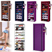 Homestyle Shoe Cabinet Shoes Racks Storage Large Capacity Home Furniture Diy Simple 9 Layers Free Shipping 22(China (Mainland))