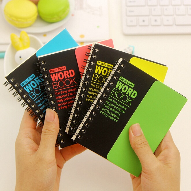 4 style/Hot sell Vintage fluorescence color series Kraft paper Word book/Notepad/Memo pad/ gift/office school supplies/Wholesale(China (Mainland))