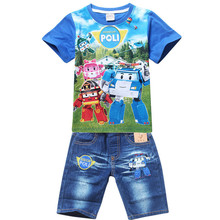 New 2016 Cotton Family Clothing Summer Style Children Clothing set T-shirt+pants 2 pcs set Boys Girls Kids Clothes for 2-10 Y(China (Mainland))