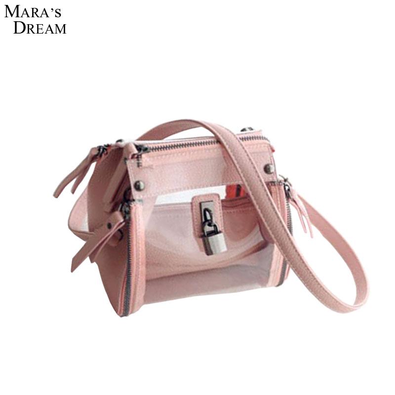 Mara's Dream Summer new fashion jelly bag transparent bag personalized printing handbag shoulder bag Messenger bag buckle(China (Mainland))