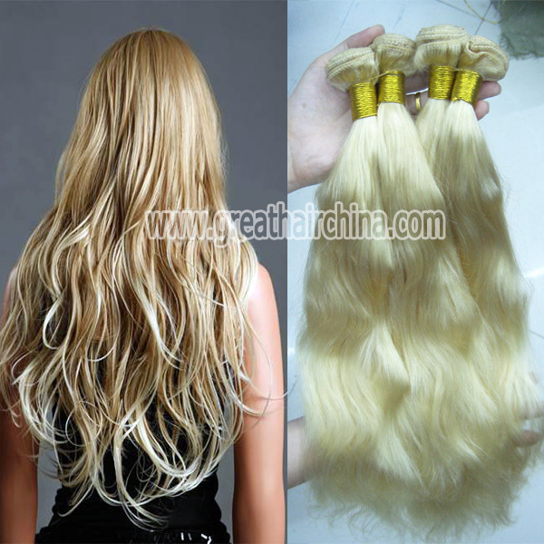 Slavic Blonde Natural Wave Hair Extension, 16-26 613# Pelo Humano Hair Weaving 3 Piece/Lot, Free Shipping<br><br>Aliexpress
