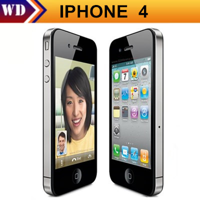 Unlocked Original Apple iPhone 4 iOS 7 Apple A4 16G Or 32GB ROM 3.5 inches 5MP Camera WIFI GPS Cell Phone(China (Mainland))