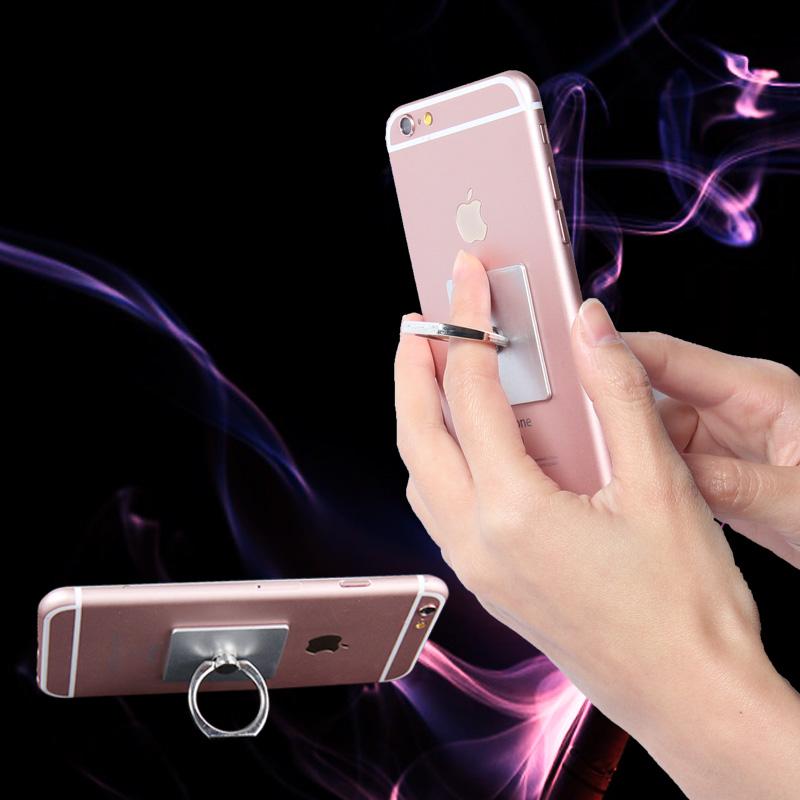 Classic 3D Metal Ring Holder Hook Simple Square Mobile Phone Holder, Universal Stand Support Finger Car Holder Grip Bracket(China (Mainland))