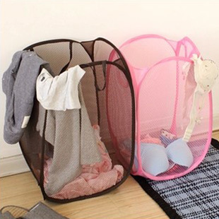 high quality folding color network wicker large laundry basket for cloth toy cavas storage laundry solid sink detergent hamper(China (Mainland))